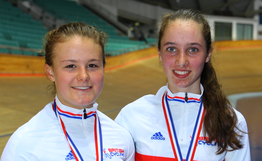 Lauren Dolan and Pfeiffer Georgi. Newly crowned National Madison Champions, Manchester, October 2015.